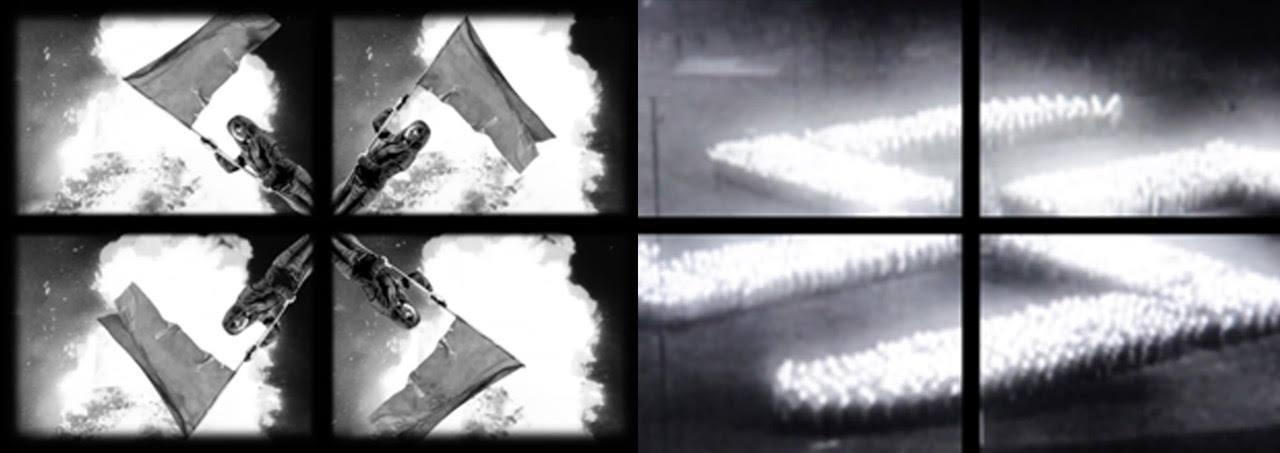 """Ewa Bloom Kwiatkowska, """"PUNCTUM/Świadomość wzrokowa"""", 2013, kadr z wideo-performansu zrealizowanego w technologii green screen"""